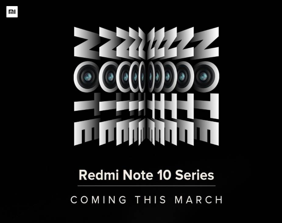 Redmi Note 10 Series teaser shared with media