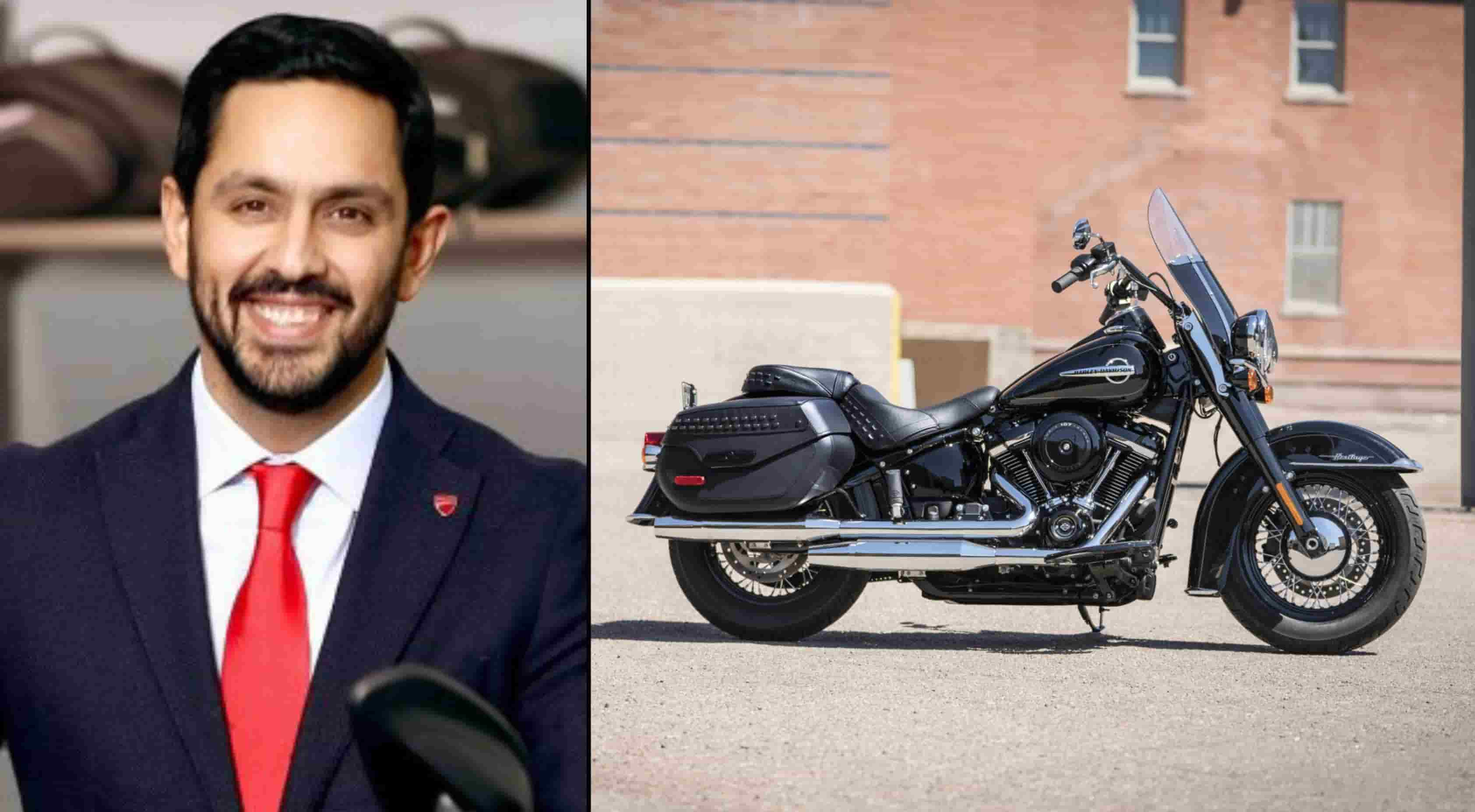 Left: Avalur's image is from Ducati India, the bike's is from Harley-Davidson