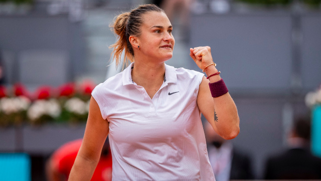 Aryna Sabalenka defeated Ashleigh Barty to win the 2021 Mutua Madrid Open, her maiden title on clay and 10th overall. AP
