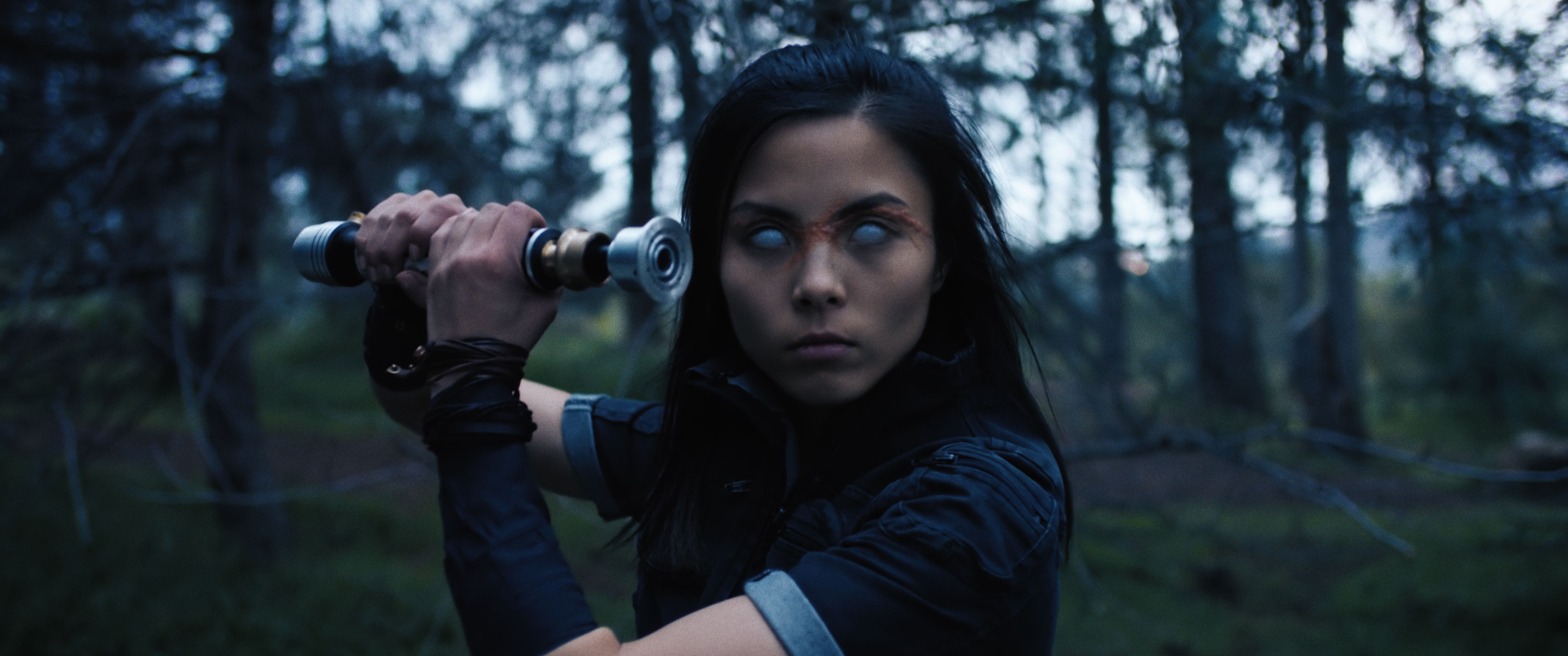 """In an image provided by the filmmakers, Anna Akana in the short """"Hoshino,"""" a fan-made Star Wars live-action short about a Jedi whose hubris costs her her eyesight. For the first time in half a decade, a year has gone by without a new """"Star Wars"""" film. But across YouTube, there are plenty of fan-made movies set in a galaxy far, far away. (Stephen Vitale via The New York Times) -- NO SALES; FOR EDITORIAL USE ONLY WITH STARWARS FAN FILMS ADV10 BY PHILBRICK FOR JAN. 10, 2021. ALL OTHER USE PROHIBITED. --"""